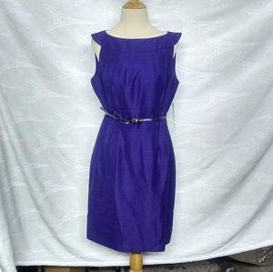 Tahari Indigo Boat Neck Dress